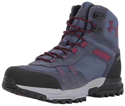 Under Armour Grip Cap - Under Armour Outerwear Women's Post Canyon Mid Waterproof Hiking Boot, Apollo (962)/Overcast Gray, 6.5