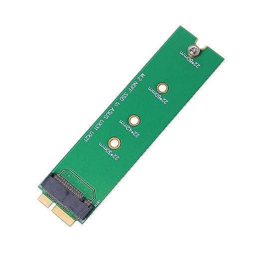 longsw adaptador hoja M.2 NGFF a 18 pines para SSD para Asus UX31 ...