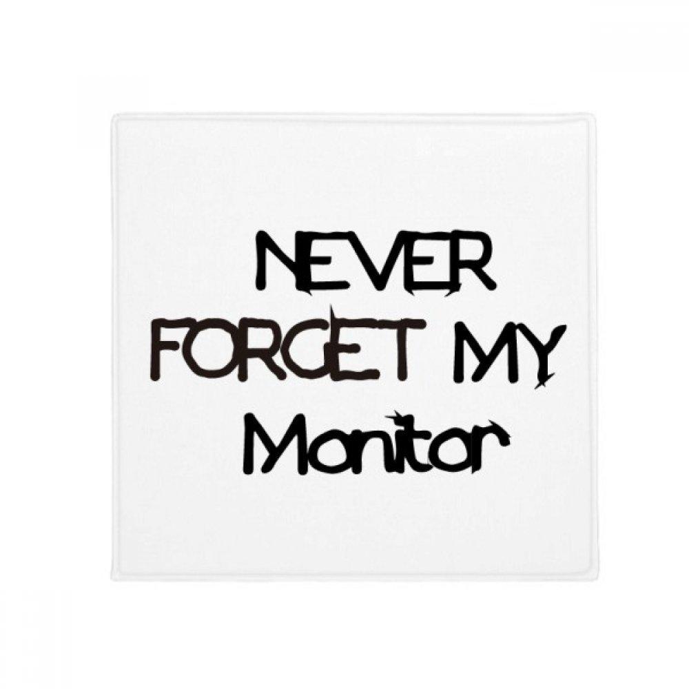 DIYthinker Never Forget My Monitor Graduation Season Anti-Slip Floor Pet Mat Square Home Kitchen Door 80Cm Gift