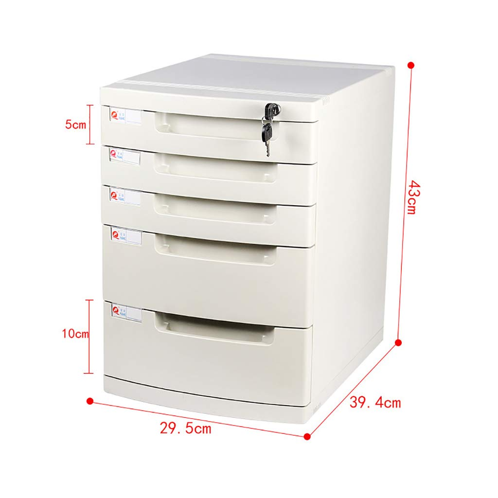 File Cabinet, Desktop Extended Drawer Office Organizer (Plastic) 29.539.443CM (Size : 5 Layers)