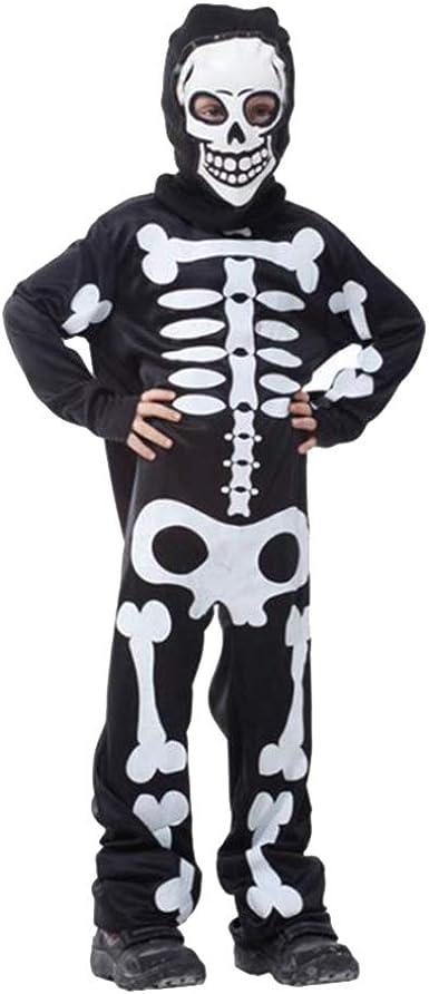 Amosfun Disfraz de Esqueleto para Niños Traje de Esqueleto ...