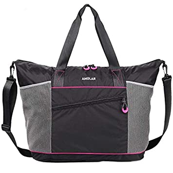 Amazon.com: Bolsa de gimnasio para mujer con bolsillos con ...