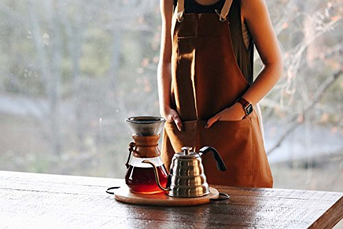 TITANIUM COATED GOLD Pour Over Coffee Filter - Reusable Stainless Steel Drip Cone for Chemex, Hario V60, Carafes and Other Coffee Makers by Barista Warrior (Image #4)