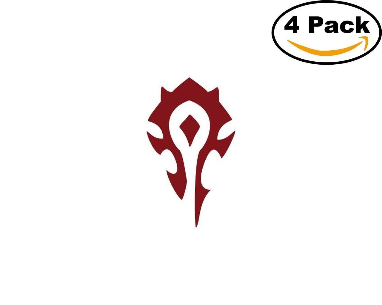 world of warcraft horde 4 Stickers 4x4 Inches Car Bumper Window Sticker Decal canvasbylam