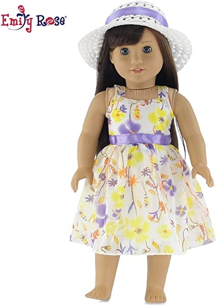 Purple Chiffon Gown Dress for 18 inch American Girl Doll Clothes