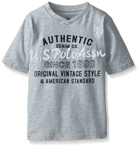 U.S. Polo Assn. Boys Graphic Embellished V-Neck T-Shirt