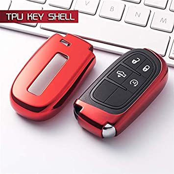 Detached Soft TPU Key Protection Cover Case for Jeep Journey Chrysler 300 Grand Cherokee Compass Patriot