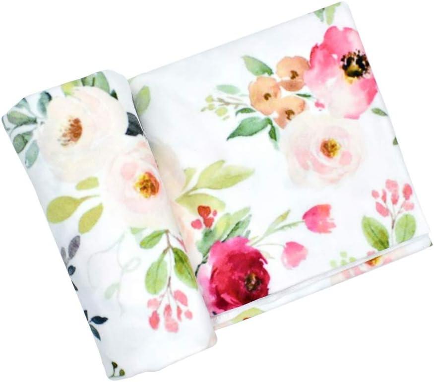 Dabixx / Swaddle-Decke Baby Girl Boy Kleidung Bettw/äsche Zubeh/ör Schlafsack Musselin Swaddle Blanket Floral Print Neugeborenen Requisiten 4#