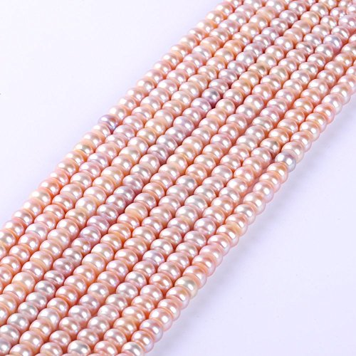 66Pcs/lot 8-9MM AAAA Flat Round Natural Freshwater Pearl Beads Spacer Loose Beads By Ruilong - Freshwater Beads Oval Pearl
