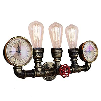 OYI Retro Industrial Water Pipe Style Antique Wall Sconce Light Wall Mounted Lamp E26 Socket