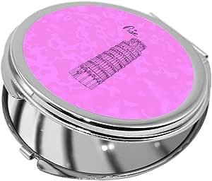 مرآة جيب، بتصميم معالم عالمية - برج بيزا المائل ، شكل دائري