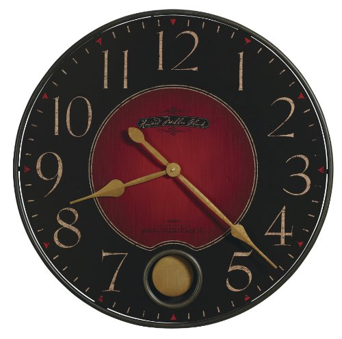 Howard Harmon  Wall Clock - cool unique contemporary black Red Decor