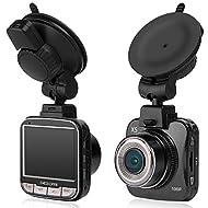 Dashcam Full HD 1080P Caméra Voiture Grand Angle 170°, Vision Nocturne, Détection de Mouvement, Capteur-G, WDR et Enregistrement en Boucle, avec 2 Ports Chargeur de Voiture (libre 8 Go Carte SD)