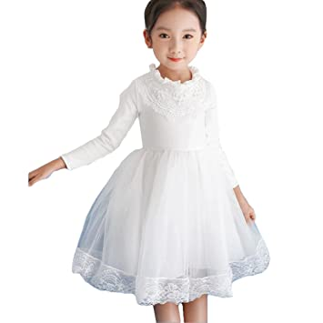 bdf3a4472564e Winter Dress for Girls - Elegant Lace Long Dress Baby Kids Long ...
