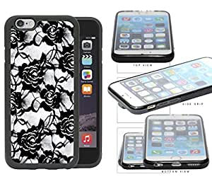 Floral Lace Pattern - black/loose Rubber TPU Cell Phone Case Cover iPhone 6 (4.7 INCH SCREEN) by icecream design