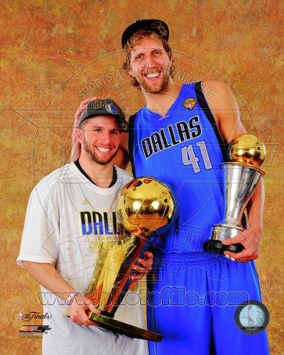 NBA Dirk Nowitzki JJ Barea Dallas Mavericks 2011 Finals Photo 8x10