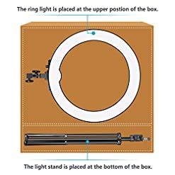 Neewer 18-inch Outer Dimmable SMD LED Ring Light Kit with Light Stand Bluetooth Receiver Smartphone Holder Hot Shoe… Flashes