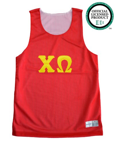 CHI OMEGA Unisex Mesh Chi O Tank Top. Gold Sewn Letters, Various Colors