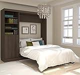 "Bestar 25890-52 Nebula 84"" Full Wall Bed Kit, Antigua"