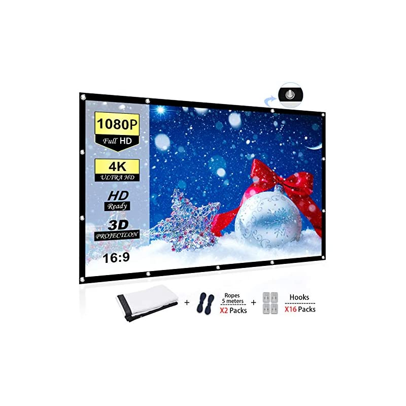Chalpr 100 inch 16:9 HD Projector Screen