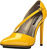 Best Michael Antonio Platform Heels - Michael Antonio Womens Patent Pump, Yellow Review