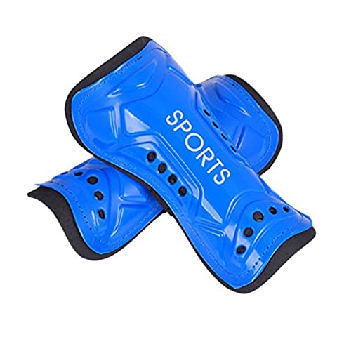 ZYN Sport Kids Shin Guards Pads Calf Support Sleeve for Soccer Football One Pair Blue
