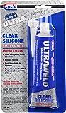 Niteo Cyclo ULTRAWELD Instant Gasket Maker: Clear RTV Silicone Adhesive Sealant, 3 fl oz, Case of 12
