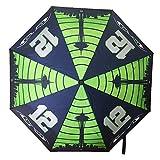 G206 Wear Seattle 12 Eyes Folding Umbrella With Anti-Slip Rubberized Grip