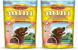 Zukes Mini Naturals HNzgQ Healthy Moist Training Treats, Salmon, 1 Pound (2 Pack)