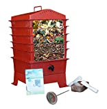 5-Tray Worm Compost Bin with Free Thermometer-Terracotta