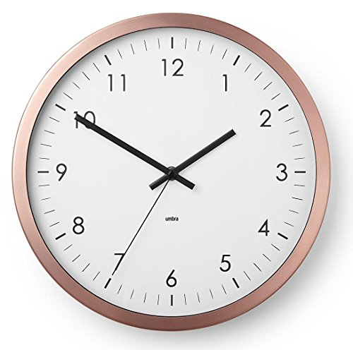 Umbra Wall Clock - 12' Round Metal Frame - Battery Operated...
