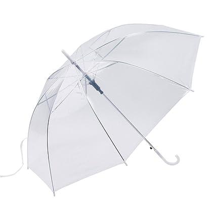 UniqueHeart Paraguas a Prueba de Viento Transparente Transparente Paraguas Paraguas automático para el Banquete de Boda