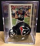 Houston Texans NFL Helmet Shadowbox w/ J.J. Watt card