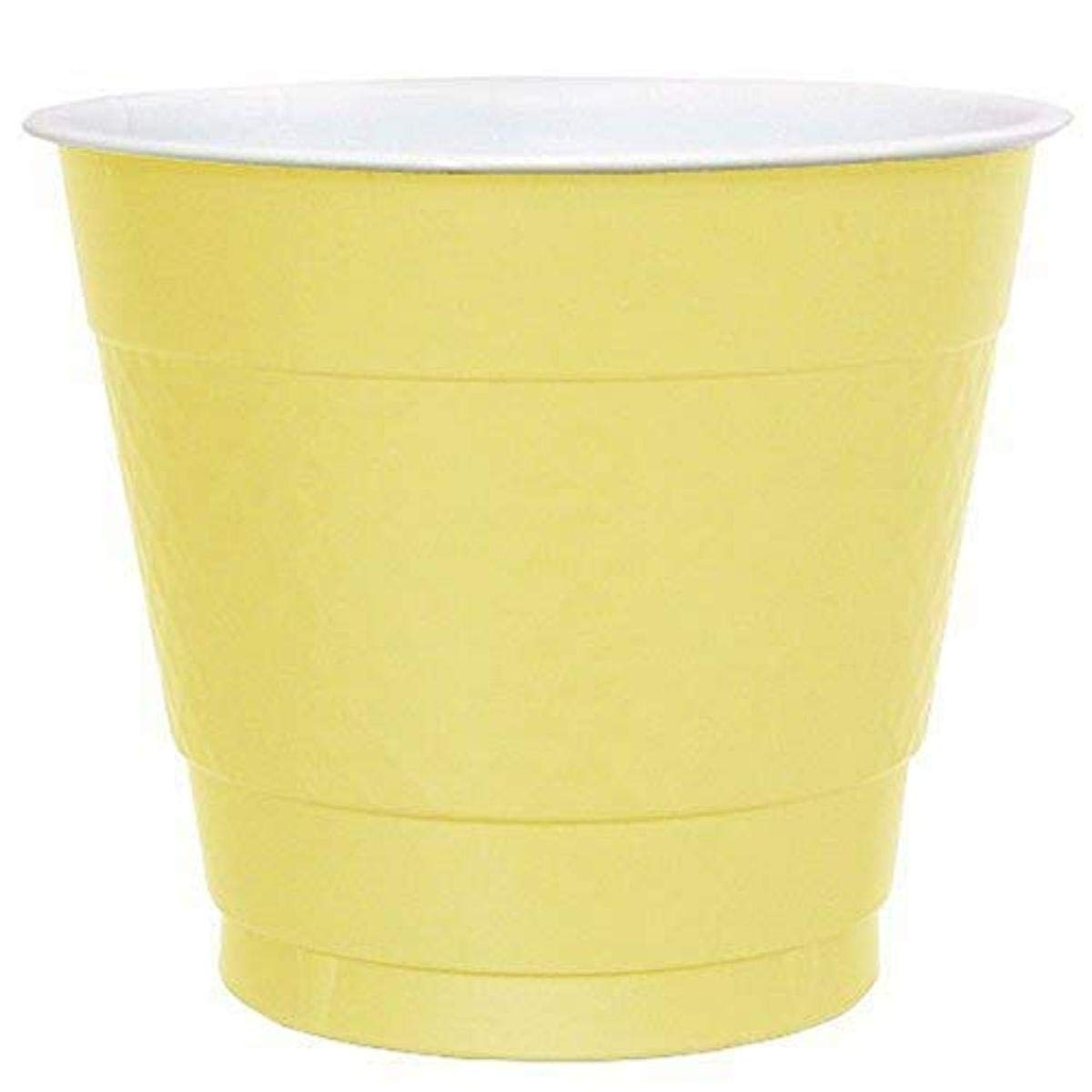 Hanna K. Signature Collection 9 oz   Yellow   Pack of 50 Party Plastic Cup, 9-Ounce