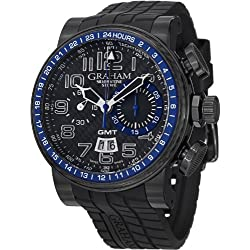 Graham Men's 2BLCB.B30A Silverstone Analog Display Swiss Automatic Black Watch