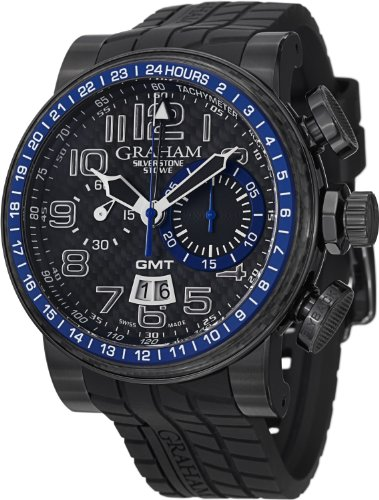 Graham Men's 2BLCB.B30A Silverstone Analog Display Swiss Automatic Black Watch
