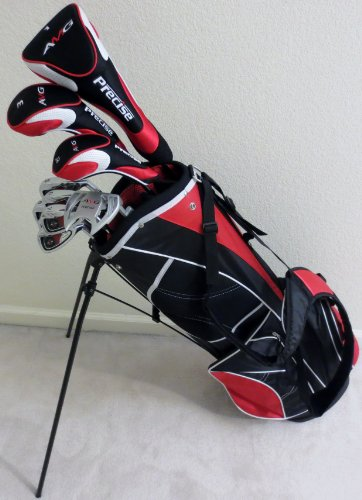 - Mens RH Complete Golf Club Set Driver, Fairway Wood, Hybrid, Irons, Putter, Stand Bag