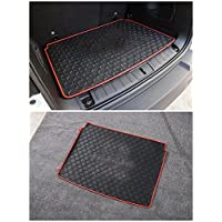 FMtoppeak Red 3D Carpet Rubber Leather Floor Cargo Trunk Liner Tray Mat Pad For 2014-2016 Jeep Renegade