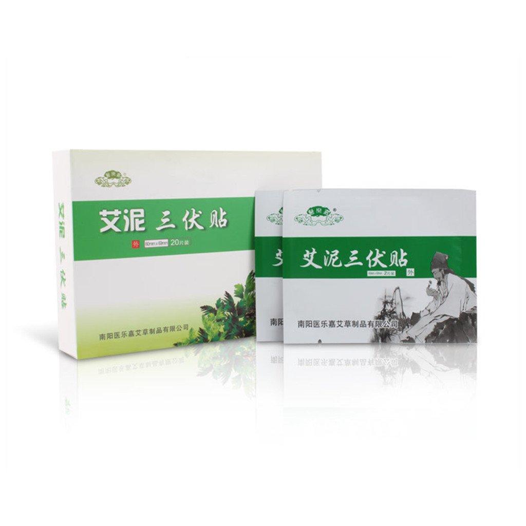 Health Care Moxibustion Body Paste Wormwood Moxa Paste Moxibustion Heat Patch Moxibustion Stickers (1 Box,20 PCS)