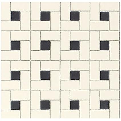 DalTile DKWINDMSPDK Keystones Blends Tile X Biscuit - Daltile black and white floor tile