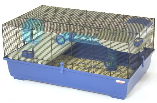Marchioro Kevin 82 Cage for Small Animals, 32.25 inches, Blue/Black by Marchioro