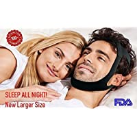 Anti Snoring Chin Strap Devices & Silk Eye Mask. Snoring Solution. Adjustable Sleep Aid Device for Men, Women, and Kids. Adjustable Strap With Mask. Arete