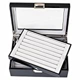 Black Double Layer Jewelry Cufflinks Storage Presentation Box / Case by Cuff-Daddy