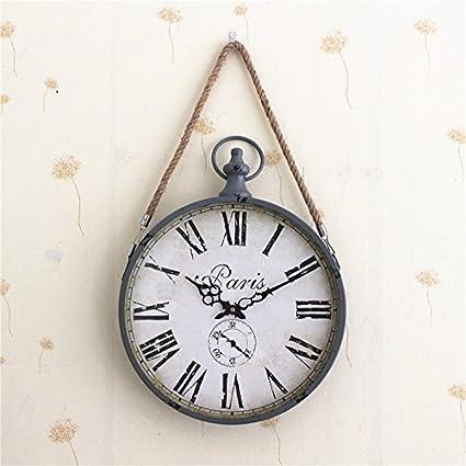 Reloj De Pared De Hierro _ Antiguo Jardin Alrededor De Cuerda Reloj De Pared Reloj De