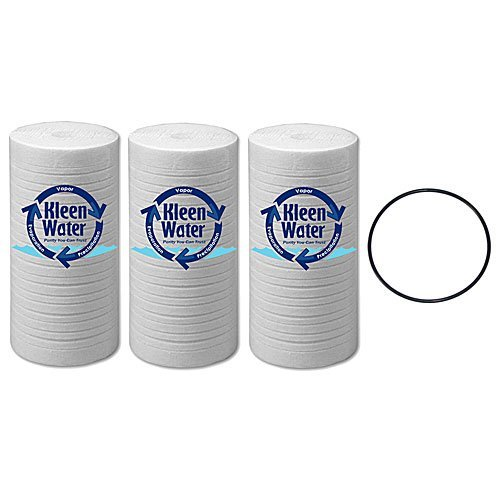 - AP810 and Keystone CG10 Compatible Replacement Water Filter Cartridges, Poly-Spun, 4.5 x 10 Inch (3) with O-Ring for AP801 by KleenWater