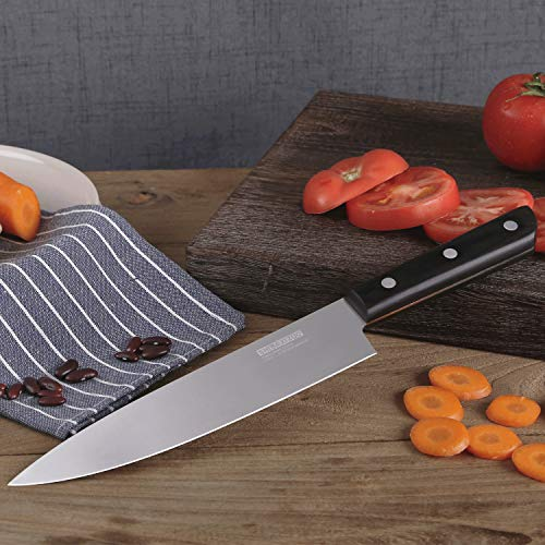 Shibazizuo Kitchen Knife 8 inch Chef's Knife Germany Stainless Steel Sharp Knives Ergonomic Cutlery Tool by SHI BA ZI ZUO (Image #6)