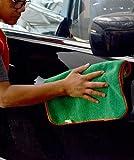 CARCAREZ Professional Grade Premium Car Clean Cloth Microfiber Towels Car Wash Cloths,Pack of 6, Green