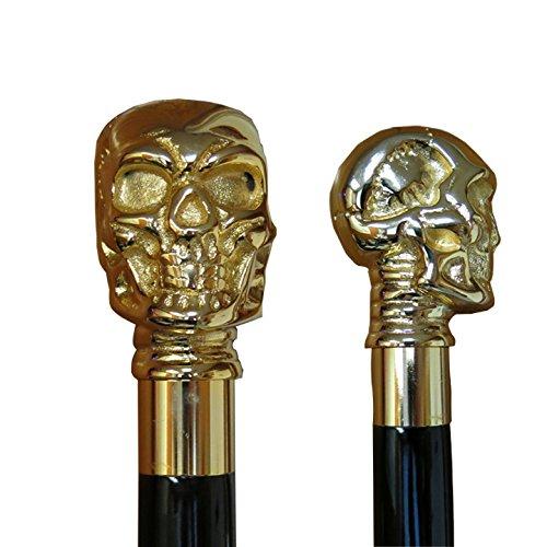 Gold Skull Cane