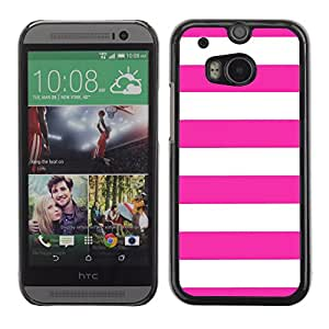 Graphic4You Color Stripes Pattern Design Hard Case Cover for HTC One (M8) (Hot Pink)