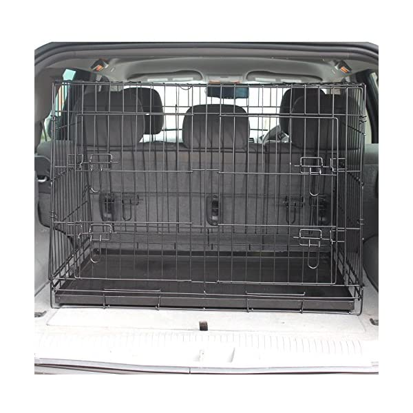 Hardcastle Folding Metal Car Boot Pet Dog Cage 5